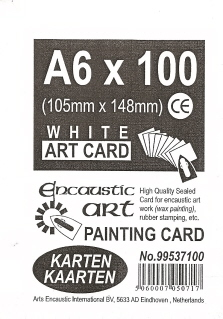 A6 White Painting Card Pk100