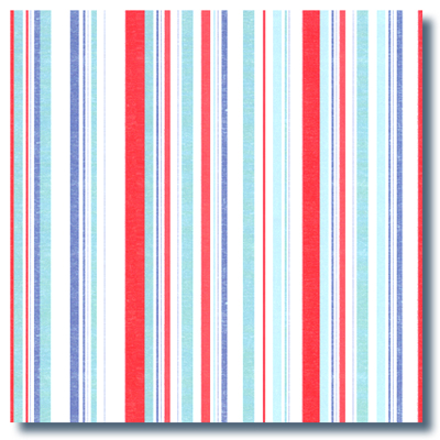 Aqua-Red Stripes