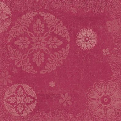 Plum-Cherry Damask