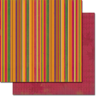 Harvest Stripe/Crimson Tonal Leaf
