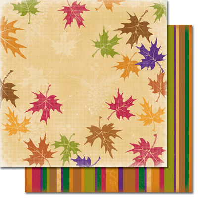 Leaf Medley/Autumn Stripe