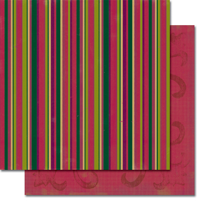 Holiday Stripe/Crimson Block Print