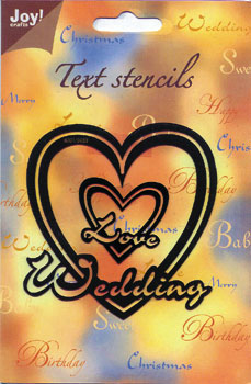 Wedding - Joy Text Stencil