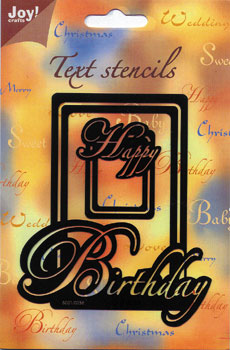 Happy Birthday - Joy Text Stencil