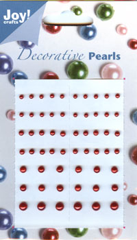 Adhesive Pearls - Red