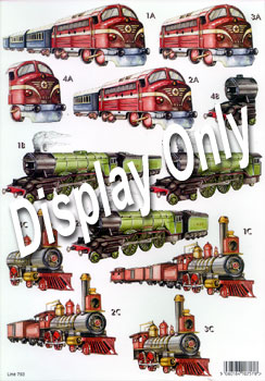 Die-Cut 3D Vintage Trains