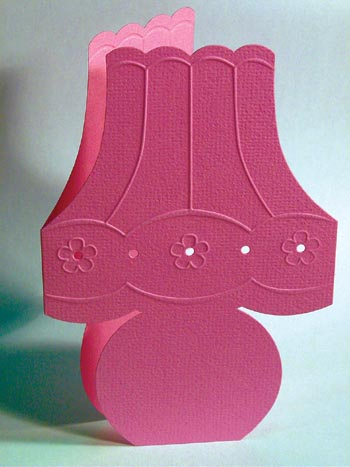 Embossed Shape Card - Lamp Lilac