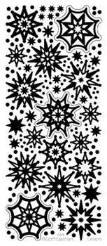 Glitter Star Flakes Silver