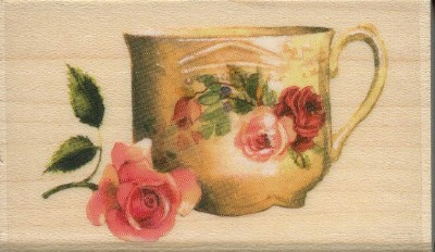 Rose Teacup by Sandy Clough