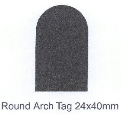 Round Arch Tag 24x40mm