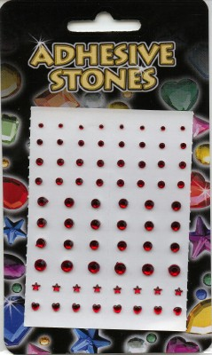 Adhesive Stones - Red
