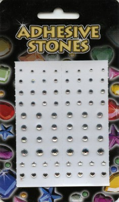 Adhesive Stones - Silver
