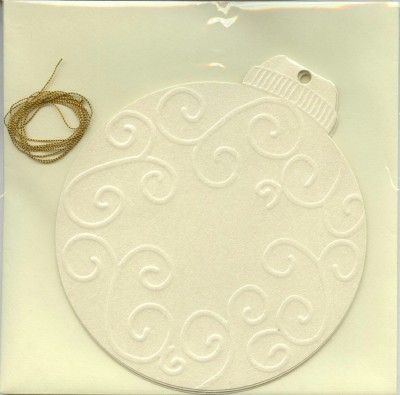 Embossed Shape Card - Bauble